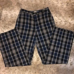 John Galt plaid wide leg pants